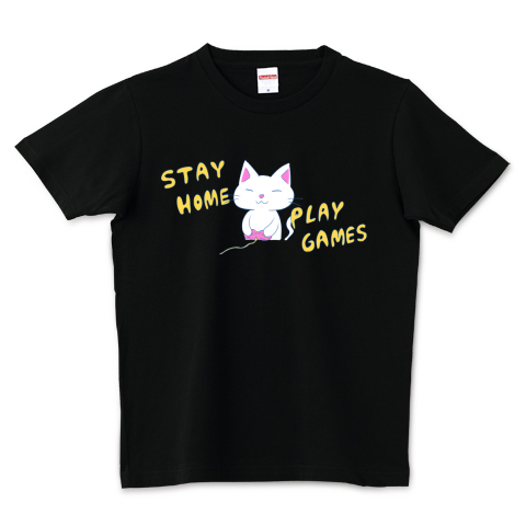 STAY HOME PLAY GAMES 5.0オンスTシャツ (United Athle)