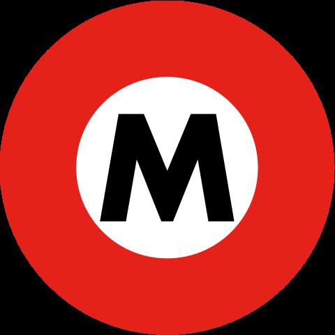 東京メトロ 丸ノ内線ロゴ{地下鉄 電車 乗り物 可愛い ボール