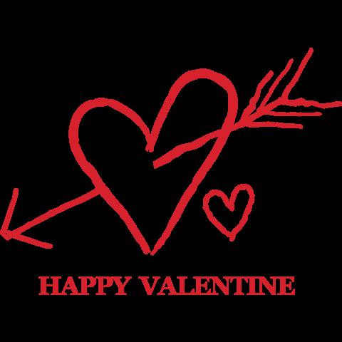 バレンタイン ロゴ ハッピー