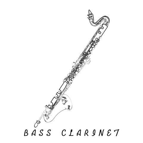 Bass Clarinetデザインtシャツ通販tシャツトリニティ