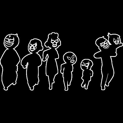 【パロディー商品】Familia de luchadores3