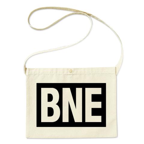 BNE-ビーエヌイー- 黒BOXロゴ サコッシュ