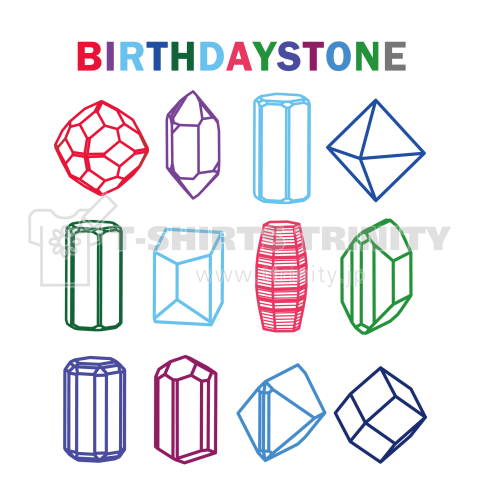 鉱式-RECTANGLE.crystallogram5.1multi-birthdaystone