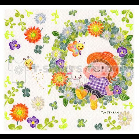 花色ガーデンリース