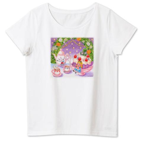 不思議の国のアリス 4.6oz Fine Fit Ladies Tshirts(DALUC)