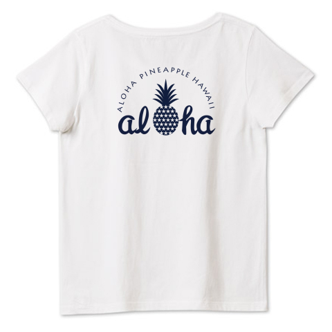 バックプリント aloha(star)060 4.6oz Fine Fit Ladies Tshirts(DALUC)