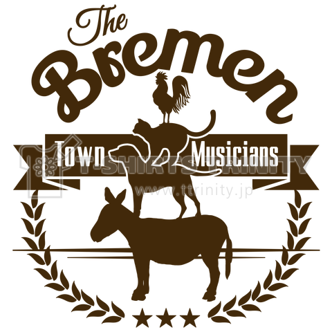 The Bremen Town Musicians ブレーメンの音楽隊デザインtシャツ通販