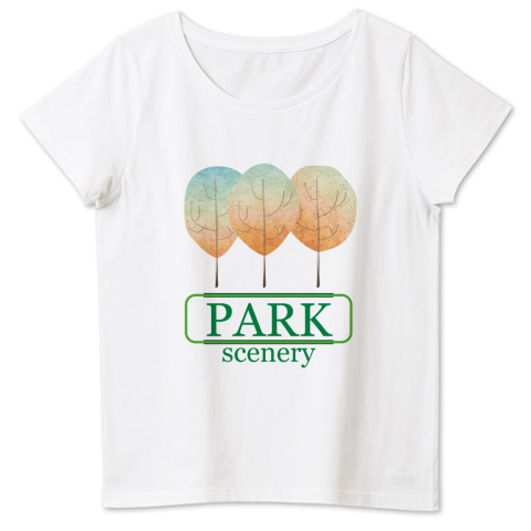公園の風景 4.6oz Fine Fit Ladies Tshirts(DALUC)