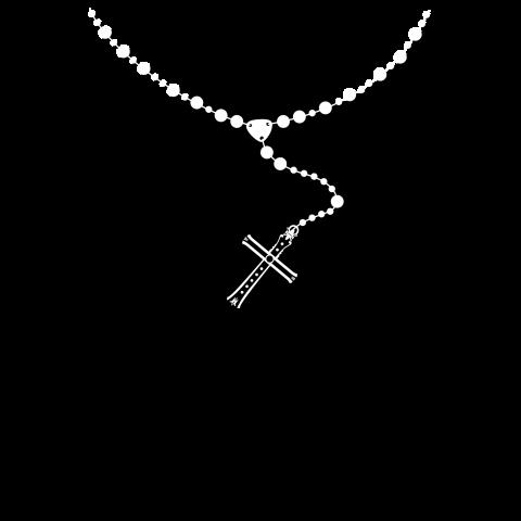 スカル[ロザリオ]黒