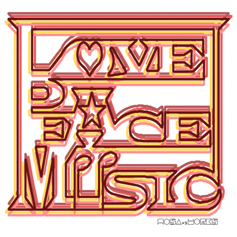 LOVE PEACE MUSIC(BG-red)