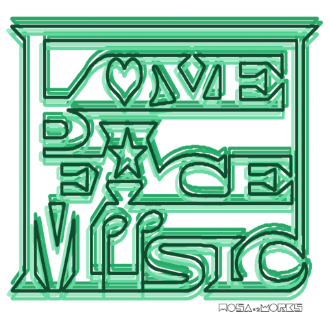 LOVE PEACE MUSIC(BG-green)