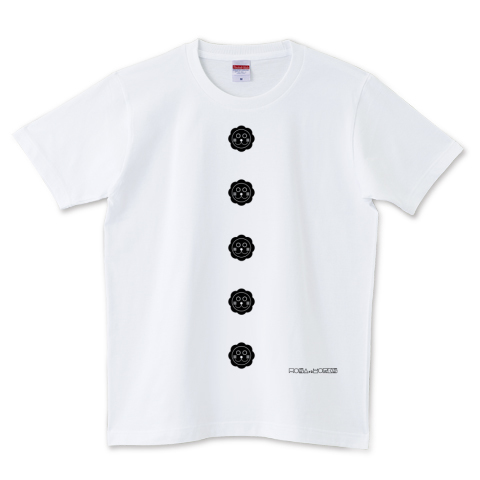 BUTTON(black) 5.0オンスTシャツ (United Athle)