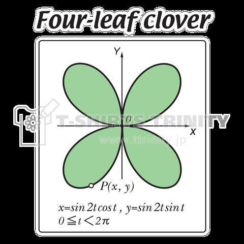 三角関数で表した動点Pが描く四ッ葉のクローバー