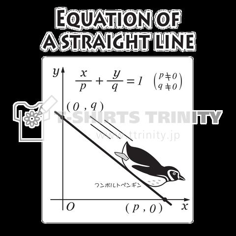 直線の方程式上を滑り降りるフンボルトペンギン