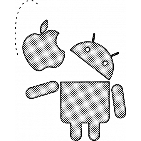 droid eat the apple (dots)