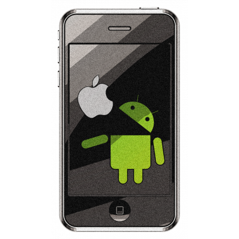 droid eat the apple (mobile)