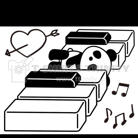 鍵盤パンダのミュージックライフ(文字が変えられます)