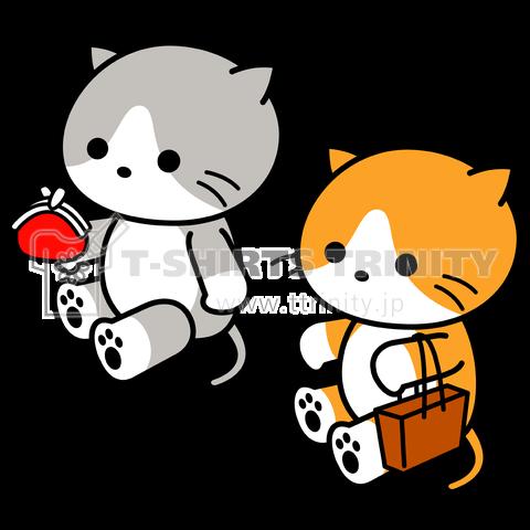 「カイ君とモノちゃん」お買い物兄弟猫