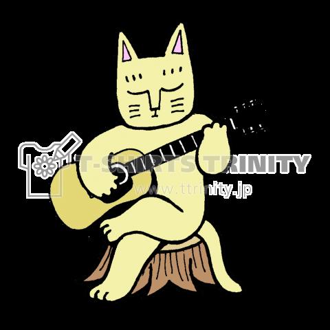 ギターをひく猫