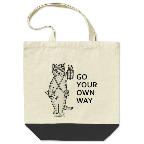 GO YOUR OWN WAY 配色トートバッグ  Mサイズ