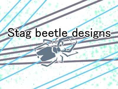 Stag beetle designs