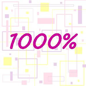 1000%