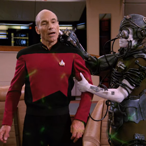 "Trek TV Episode 169 - Star Trek: The Next Generation S03E26 - ""The Best of Both Worlds, Part 1"""