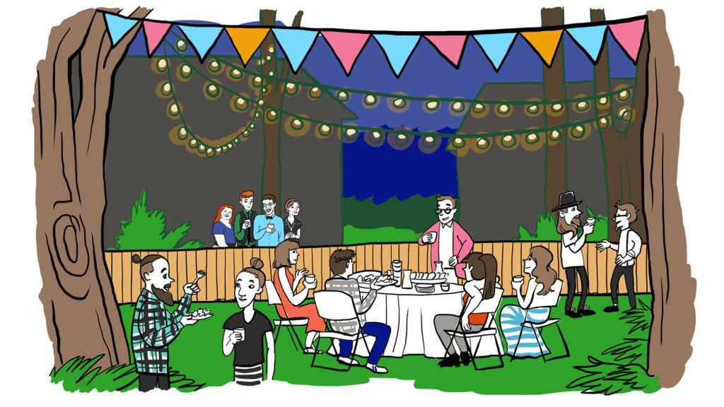 Puutarhajuhlat - aidan takana