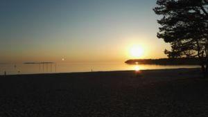 Yyterin ilta-aurinko. Kuva Anne Vuorenpää.