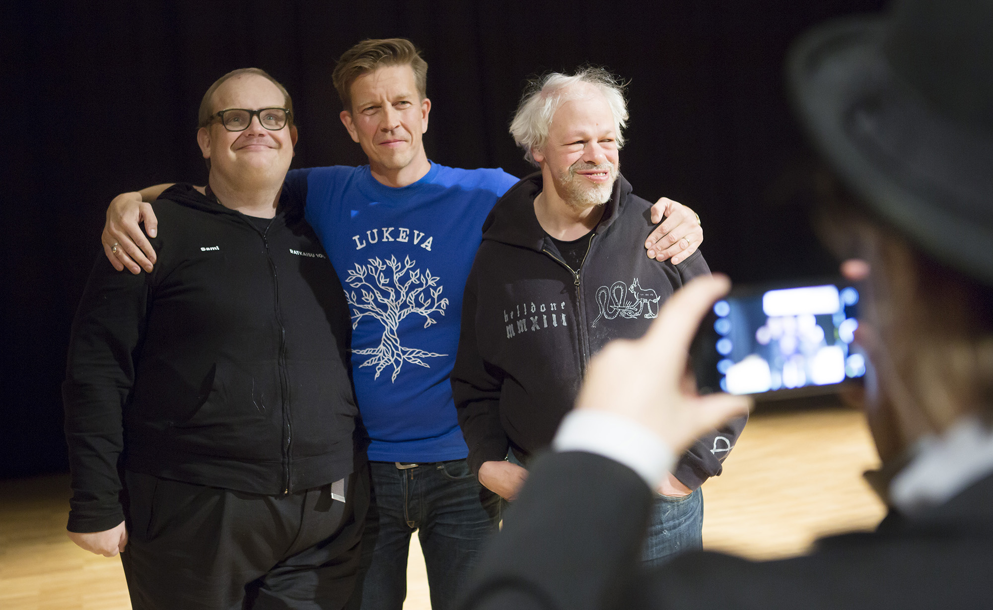Sami Helle (vas.), Mika Kaartinen ja Kari Aalto.