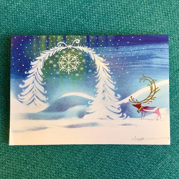 Kortti Lapin joulu, original Omppu Omenamäki