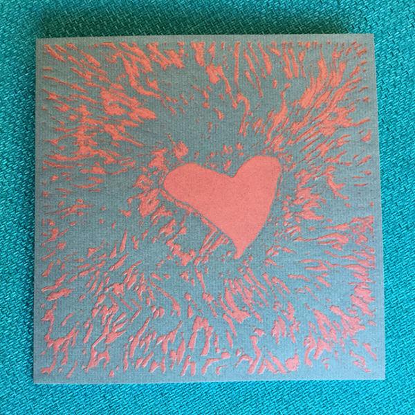Sydänkortti Rock III, original Linnea Meuronen