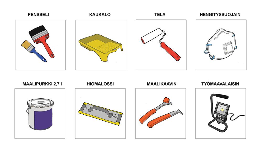symbolikuvia työkaluista