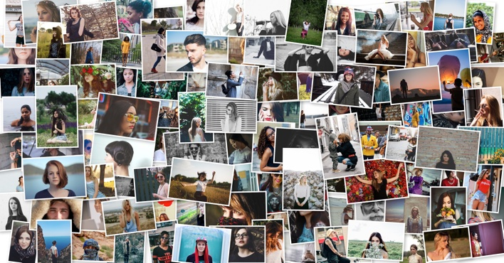 100 Picture Pile Collage