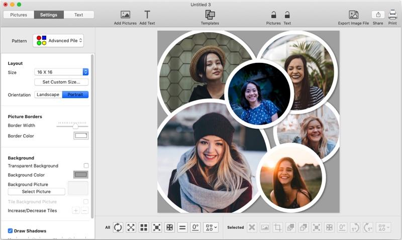 6 picture circle collage maker, TurboCollage, screenshot