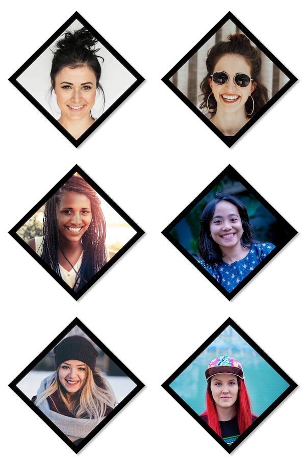 6 picture diamond collage