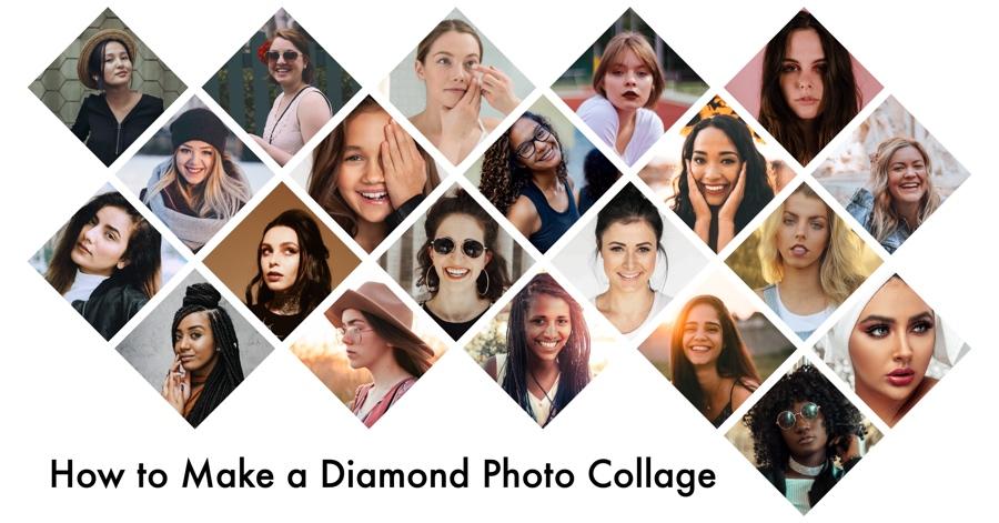 Make Diamond Photo Collage