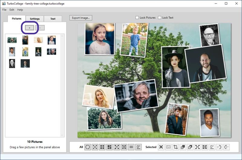 Add family member photos