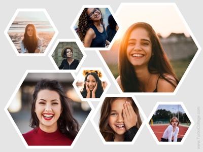 Freeform hexagon collage - 1