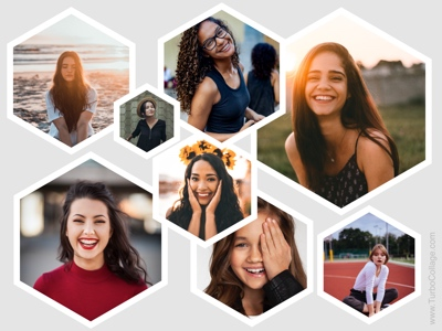 Freeform hexagon collage - 2