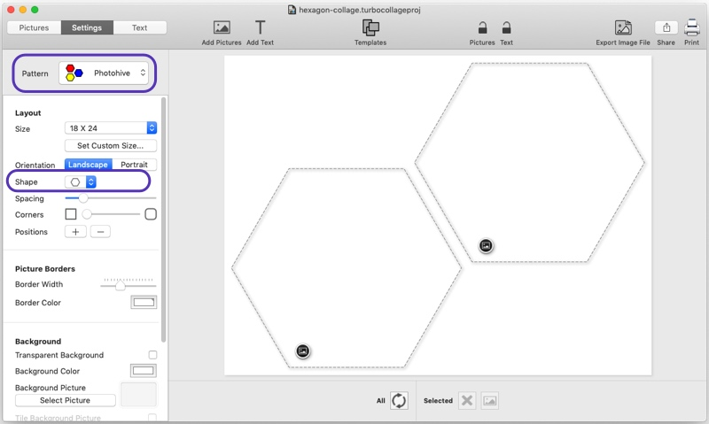 Step 1: Use Photohive pattern with Hexagon shape
