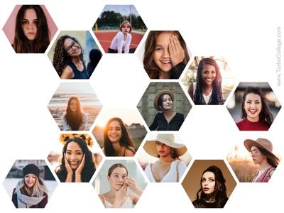 Regular hexagon collage - 2