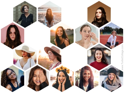 Regular hexagon collage - 1