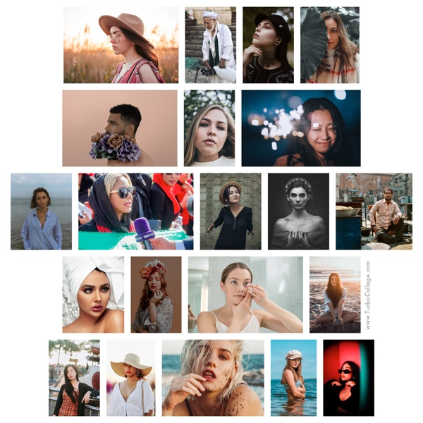 Photo Gallery With Pictures Arranged Horizontally in Rows
