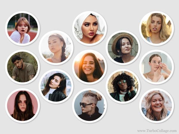 Make a Circle Photo Collage