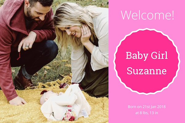 Baby arrival greeting