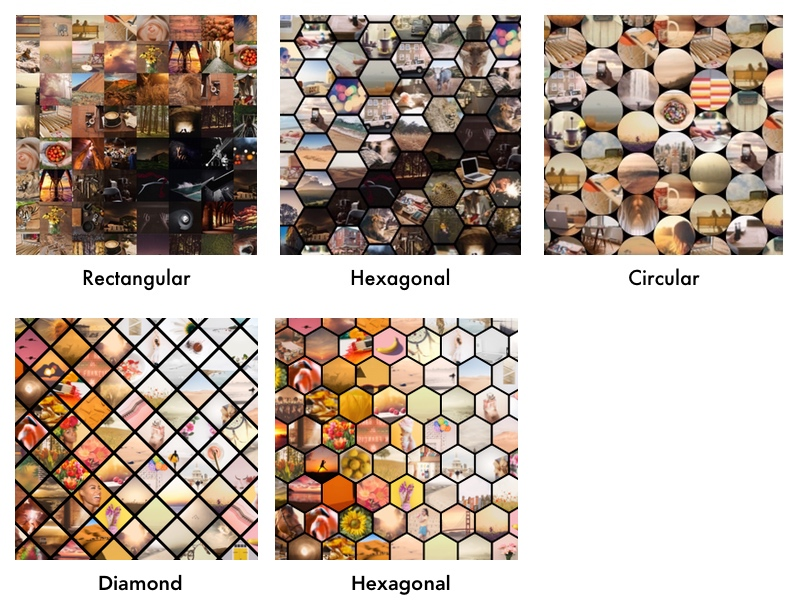 Photo Mosaic Cell Styles