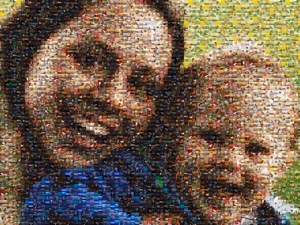 Mother Child Photo Mosaic