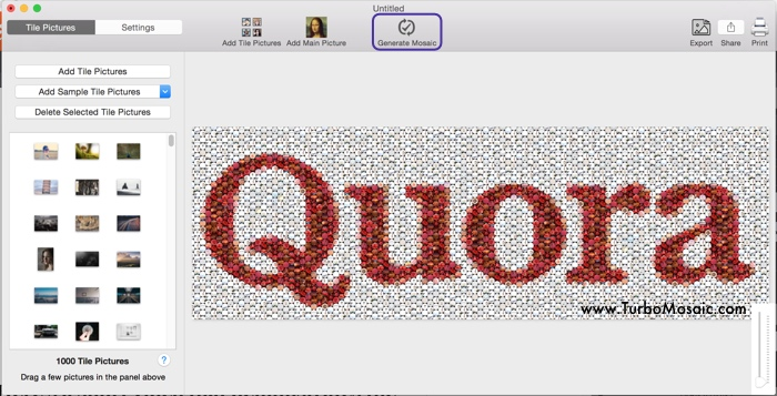 Step 1: Generate Mosaic of Logo