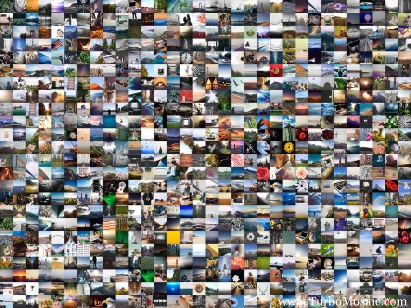 Random picture grid